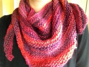 knit shawl scarf