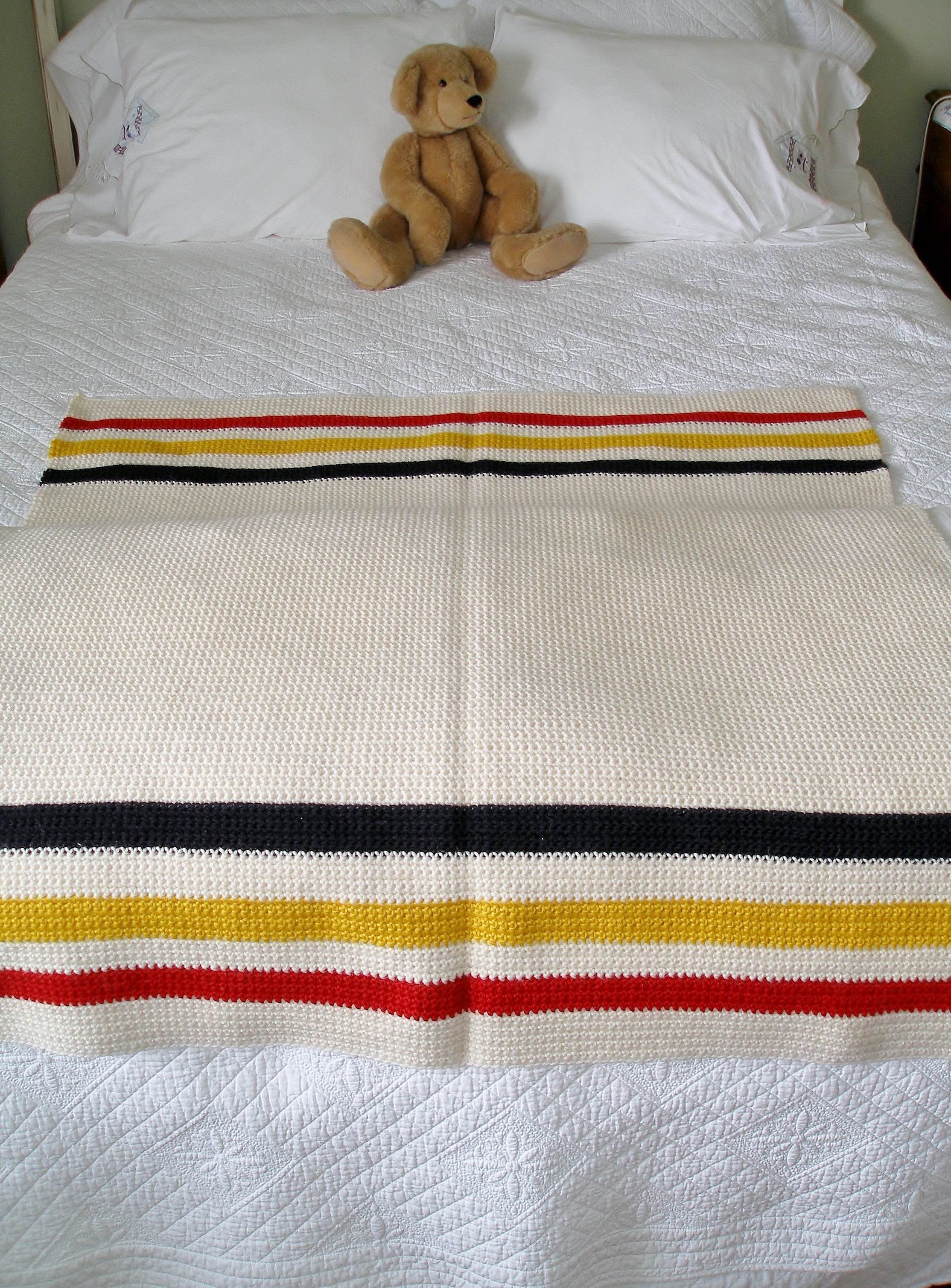 Knitting Pattern For Hudson Bay Blanket : Crochet Hudson Bay Blanket Knit and Crochet