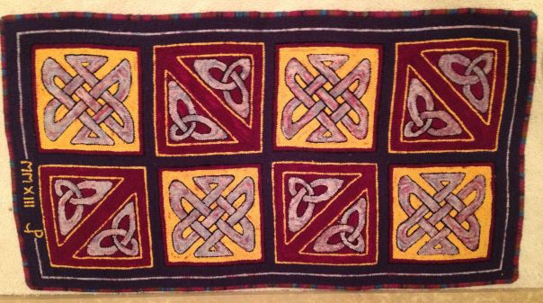 celtic hooked rug