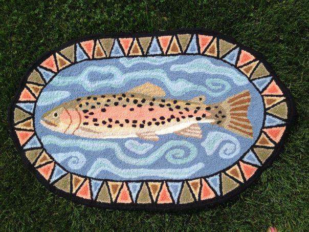 salmon rug