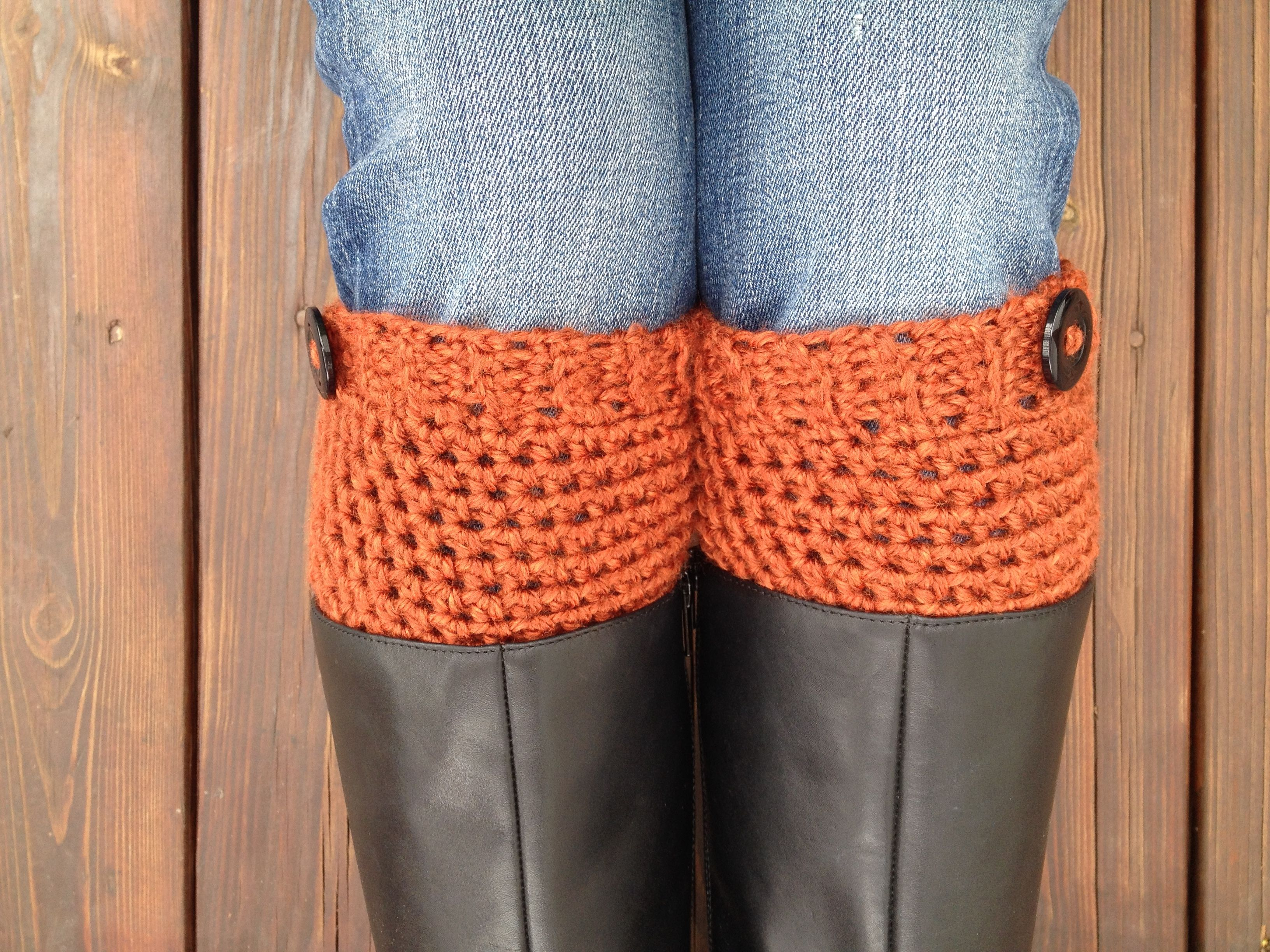 Crochet Boot Cuffs or Boot Toppers—FREE Pattern | Knit and Crochet