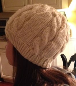 Cable Knit Hat and Recycled Mittens Knit and Crochet